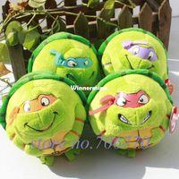 beanie ballz turtle - OP IN HAND SET ty beanie BALLZ series Teenage Mutant Ninja Turtles quot CM plush big eyes doll Stuffed TOY FREE SHIP