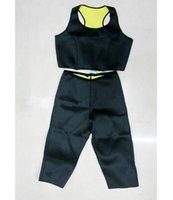 cellulite pants - Women Hot Shapers Set Sport Slimming Bodysuit Shaper Pants Stretch Sport bra Top Fitness Sweat Corset Lose Weight Anti Cellulite
