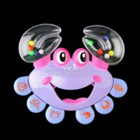 Wholesale Kids Baby Crab Design Handbell Musical Instrument Jingle Shaking Rattle Toy