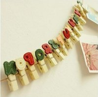 alphabet storage - F10077 Mini Alphabet wooden clip Clothes Photo Paper Peg Pin Clothespin Craft Clips