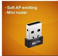 mini cd adapter - Mini Mbps USB WiFi sem fio placa de rede n g b LAN Adapter RTL8188CUS COMFAST CF WU710N grátis frete com driver de CD