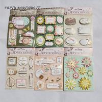 Cheap PF100,Foreign item Vintage European Wedding Deocrative 3D Stickers to DIY Gift Photo Album  Scrapbooking Craft Supplies 6packs