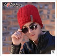 Wholesale Korean hot men s new classic winter warm wool knit hat outdoor recreation fashion head cap sleeve beanies C1328