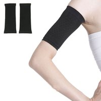 Wholesale Delicate pair Women Lady Black Slimming Arm Belt Shape Arm Beauty Burning Arm Fat Thin Wrist Strap with Retail Package