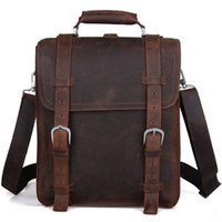 Wholesale 2015 New Large Leather Backpack quot Laptop Men s Hiking Travel Camping Shoulder Bag Carry