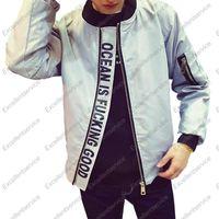 2015 Hi-Calle Mens FashionYeezy Bomber Jacket Negro y gris estilo militar MA1 Casual Hip Hop de la chaqueta de Kanye West de los hombres