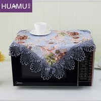 Wholesale Continental landscaped garden fabric cover microwave oven oven Dust cover dust cover cloth towel and oil dd112