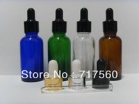 Wholesale 30ML OZ Amber Blue Green Glass Eye Dropper Bottles Vials Enssential Oil Bottles Sensitive Chemical Storaging NEW EMPTY