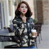 Wholesale 2015 winter Women s Cotton padded Casual parka Jacket Women Outerwear thick Camouflage mujer Coats short paragraph down wadded