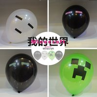Wholesale Minecraft Balloon Enderman inch Party Must Haves Party material Purple eyes in stock same day shipping