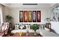 bands live music - 2016 New Sticker Vinilos Paredes Poster A Band Playing Music Painting Handmade Modern Art On Canvas Wall For Home Decor