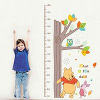 baby pooh wallpaper - WINNIE THE POOH Height Chart Measure Wall Stickers baby Nursery Decor PVC Decals Fashion Cute Cartoon Wall Papers