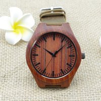 wood watches wholesale - Classic Wood Watch Luxury Mens Women Rosewood Watch Wooden Watches Leather Sport Quartz Watch Casual Wristwatches Fashion Swiss Design