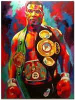 al por mayor cartel de boxeo de la vendimia-Mike Tyson boxeador de boxeo de deportes de seda Cartel de pared Vintage 24x32 pulgadas 009