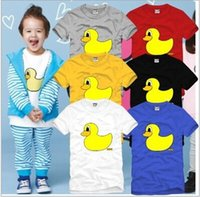 Cheap Hot ! High quality Summer Boys girls infants Clothing Small yellow duck brand t-shirts 100% cotton short sleeved T-shirt Kids Cool 6 color