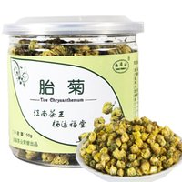 al por mayor amarillo crisantemo-Chrysanthemum fragante té tongxiang natural amarillo crisantemo brotes 50g embrión crisantemo rey comida beber en lata