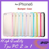 Wholesale For Iphone Plus Matte PC TPU Soft Clear Transparent Gel Cover Cases For Galaxy S6 S5 Note Bumper Case