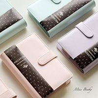 spiral notebook - Agenda Original Macaron Lovely Zipper Hasp Dairy A5 A6 Spiral Planner Papers Agenda Binder Notebook Organizer Writting Gift Stationery