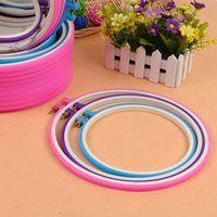 Wholesale Size CM CM CM cross stitch round plastic embroidery frame hoops