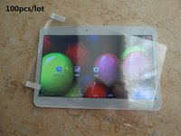 Wholesale 100X Original Screen Protective Film Protector Guard for quot inch MTK6572 MTK6592 Android Tablet PC BH