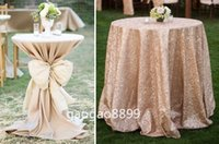 Wholesale Covered pub tables and sequined table clothes Fancy Shiny Glitter Gold Sequins