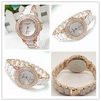 Wholesale Hot Selling Women Ceramic Fashion Luxury Watches Lady Dress Watches For Women Quartz Casual Watch Fashion Imitation Diamond Wristwatches