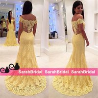 arabic ladies fashion - 2015 Tarik Ediz Classical Yellow Lace Evening Dresses For Wedding Guests Bridesmaid Formal Ladies Womens Wear Cheap Arabic Prom Gowns