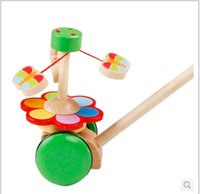 baby walking development - Early Education wooden Toy baby walker push along TOY beginnings learning walking First Step development enlightenment toy birthday gift new
