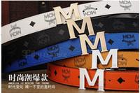 Wholesale Korean men and women fashion wild MCM leather belt