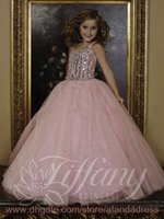 Wholesale 2014 Girl s Pageant Dresses Princess Spaghetti Straps Sequins Organza Ball Gown Little Girl Dresses Pageant Gowns TF13387