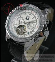 Prezzi Maglia cielo giallo-orologio automatico di sport del Mens di immersione meccanici Luxury Brand nuovi uomini JARAGAR tourbillon orologi quadrante bianco JARAGAR