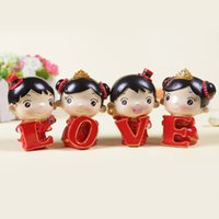 Wholesale new sets wedding decoration LOVE festival dolls four piece resin furnishing articles Wedding decoration