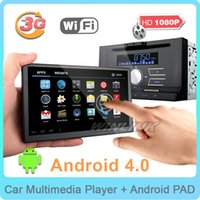 Wholesale 2015 New quot Android Car DVD Player universal din car pc Tablet Pad GPS navigation Radio with dvd G WiFi BT TV function