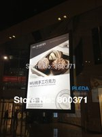 Wholesale Super Slim Two Sides Hanging Aluminum Snap Frame Advertising Led Light Box