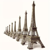 craft materials - 38cm Bronze Eiffel Tower Figurine European Romantic Arts and Crafts for Ideal Home Decor Zinc Alloy Material Hot Sale T cm