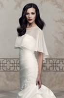Wholesale 2015 New Collections Brides Accessories Top Quality Handmade Bride Jacket Chiffon Shawl Unique Bridal Jacket Sold by Shangshangxi Under