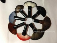 animal shapes oem - Toiletries factory spot OEM quality wooden handle animal hair I paint fan shaped brush makeup brush