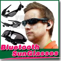 bluetooth headset sunglasses - Hot sell Sun Glasses Bluetooth Headset Sunglasses Stereo Bluetooth Headphone Wireless Handsfree for iphone plus S Samsung note4 free DHL