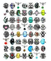10 zodiac charms - Fashion Silver Mix Pandora Style European Big Hole Loose Beads Crystal Rhinestone for Snake safety chain Fit DIY Charm Bracelet Jewelry