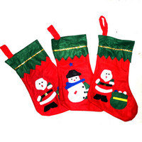 Wholesale Christmas Stocking christmas socks supplies Red Santa Socks Snowman Christmas Tee Patter Kid Gift Stockings various patterns cm