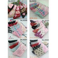 fuzzy socks - 6 designs Christmas Snowflake reindeer designed Womens Socks Fuzzy Warm Winter Cute Girls pairs