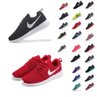 fabric mesh - 100 Original Nike Roshe Run Running Shoes Men and Women shoes Mesh Black White Red Rosherun Male Female Zapatos Sport Tennis Jogging shoes