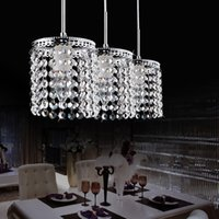Wholesale led crystal pendant light dining room lighting fashion cafe lamp indoor lighting fixtures by crystallamp
