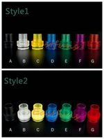 best sales tips - Tobh Atty Drip Tips EGO Wide Bore Plastic Colorful Drip Tips Hot Sale Top Cap Fit For mm Atty RDA Atomizer Best Ecig Mouthpiece Free Ship