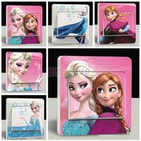 Wholesale Cartoon D Power Switch Stickers Cover Frozen Switch Stickers Kids Party Decoration Movable Frozen Switch stickers LJJD1091