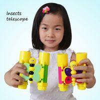 Wholesale Telescope for children kids cute butterfly design kids optics toys kindergarten school supply birthday gift for children