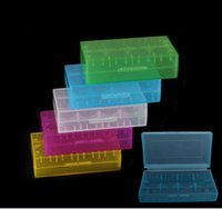 Wholesale 18650 battery storage box plastic battery case box holder storage container pack or CR123A battery Mixed color