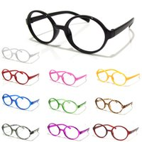 Wholesale Fashion Cute Lovely Children Kids Boys Girls Eyewear Candy Colors Round Spectacle Frame Glasses