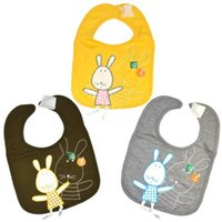 Wholesale New Baby Toddler Infants kids bibs lunch Rabbit Pattern soft Saliva Hand towel