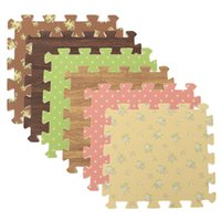 acrylic wood flooring - High Grade pack EVA Foam Mats Imitation Wood Floor Puzzle Printing Mat For Adult Kids favor Home Bedroom Stick Floor carpet